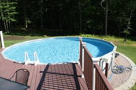 Pool Decking When You Have An Above Ground Swimming Pool There Are  Typically Not Decks