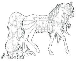 Free Coloring Pages Horses Horse Printing Coloring Pages Free
