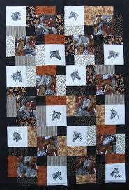 Horse Quilt Pattern Magnificent Layer Cake Scramble Horse Quilt Kit