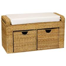 brown storage bench. Exellent Bench Household Essentials Brown And Tan Storage Bench To I