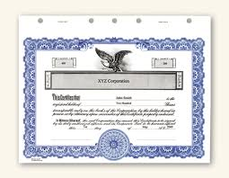 Corporate Stock Certificate Template Word 2 Guatemalago