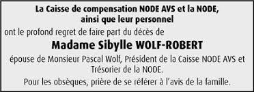 Hommages - Pour que son souvenir demeure: Sibylle WOLF-ROBERT