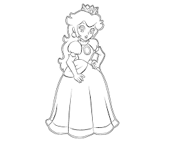 free printable coloring pages 1 princess peach coloring page