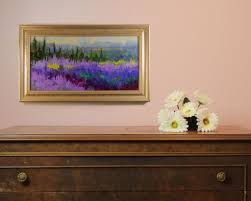 mountainside lavender adagio abstracted plein air lavender evening