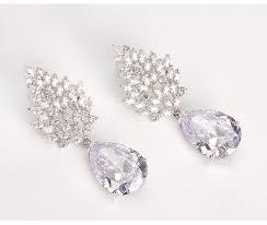luxury large earrings female wedding jewelry bridal big heavy cz chandelier earrings for women platinum plated gift