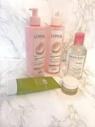 skincare routine featuring loreal fine