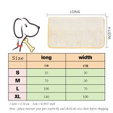 Pet Bed Size Chart Waterproof Dog Beds For Small Large Dogs Blanket Outdoor Warm Pet Dog Mat