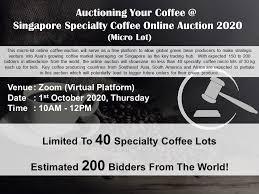 Tiam is hokkien for shop/ ) singapore management university (smu). Singapore Specialty Coffee Online Auction 2020
