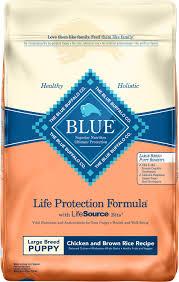 Blue Buffalo Large Breed Puppy Feeding Chart Blue Buffalo Life Protection Formula Large Breed Puppy Chicken Brown Rice Recipe Dry Dog Food 15 Lb Bag