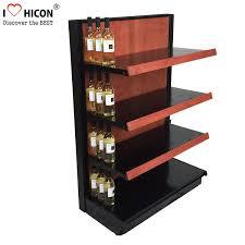 Gondola Display Stands Classy Liquor Store Gondola Shelving Units 32 Inch Wide End Cap Wooden