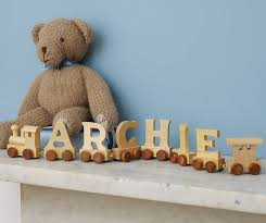 children s wooden train letters