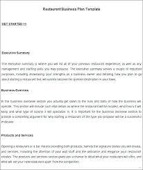 executive business plan template template bar business plan template