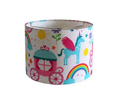 Drum Lampshade Unicorn Princess Lamp Shade Girls Bedroom Nursery