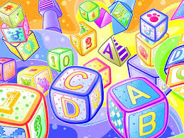 Kids Powerpoint Background Colorful Alphabet Blocks For Kids Powerpoint Background