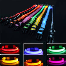 Usps Light Blue Us 1 1 35 Off Usps Shipping 8 Color S M L Size Glow Led Dog Pet Cat Flashing Light Up Nylon Collar Night Safety Collars Supplies Dropship In Led