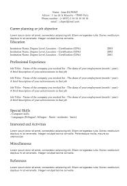 Classic Resume Template Simple Classic Resume Engneeuforicco