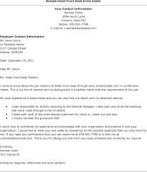 Cover Letter For Hotel Receptionist With No Experience Receptionist