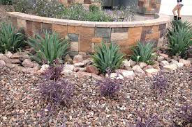desert landscaping rocks decorating ideas on the yard plus stone garden edging planted with various kind of plants popular rock