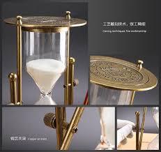 rotating 30 15 minutes hourglass metal antique hour hourglass flip sand timer reloj de arena temporizador