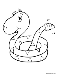 Small Picture Snake coloring pages online printable free