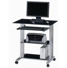 furniture astounding small black computer desk for home office glass table top using