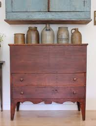 Rare 1820 s Antique Early American Country Pine Blanket Chest