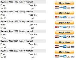 hyundai atos 1997 2002 repair manual factory manual now your factory instructions manual for hyundai atos 1997 1998 1999 2000 2001 2002