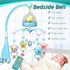 Musical Light For Babies Details About Baby Bed Bell Musical Mobile Projection Nursery Lights Bed Crib Cot With Remote