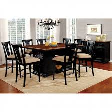 sabrina transitional black cherry counter height table set