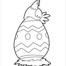 Small Picture Baby chick and big easter egg coloring pages Hellokidscom