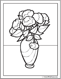 Free printable spring coloring pages. 102 Flower Coloring Pages Customize And Print Ad Free Pdf