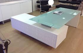 modern glass desks desk lamp in executive plan 7 willothewrist com with decor 18