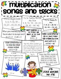 Free Multiplication Songs And Tricks Multiplication Tricks