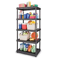 new blue hawk 5 tier heavy duty plastic freestanding storage rack shelving unit 2