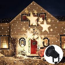 Outdoor Lighting Christmas Stars Star Projector Light With 4 Led Bead 360 Degree Romantic