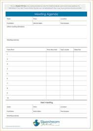 Agenda Format Examples | Procedure Manual Sample Documents ...