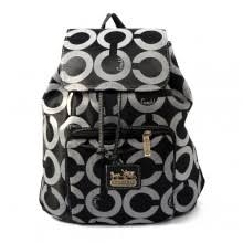 Coach Classic In Signature Medium Black Backpacks EJA Clearance Outlet Sale