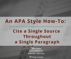 How To Cite Walden University Writing Center Apa How To Cite A Single