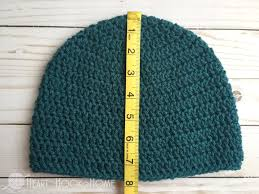 how to size crochet hats master beanie pattern