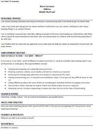 Cv For Cleaning Job Car Valet Cv Example Learnist Org