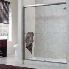 Ideas Of Framed Bathroom Shower Door With Towel Holder Bar