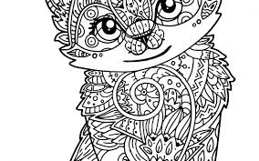 Cat From Back Cats Adult Coloring Pages Sheets For Adults Page