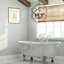 chandelier bathroom lighting master