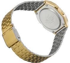 buy casio unisex gold lcd bracelet watch at argos co uk your casio unisex gold lcd bracelet watch144 4139
