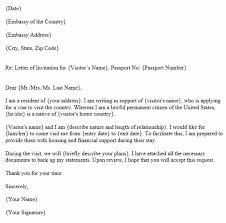 invitation letter for a visa