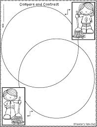 Compare And Contrast Venn Diagram Template Venn Diagram With Writing Lines Cashewapp Co
