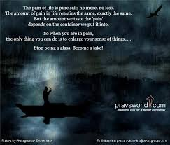 Pravs World Good Morning Quotes Best of How To Deal With Pain In Life Be A Lake Quote On Pravs World