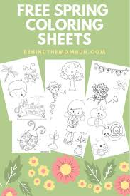 Free Spring Coloring Sheets Coloring Pages Activities For Kids