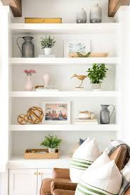 long styled shelves in cottage family