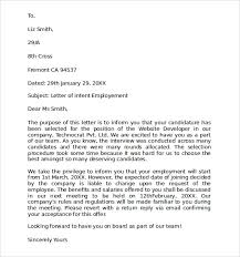 10 Letter Of Intent For Employment Samples Pdf Doc